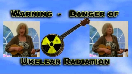 Video stills montage from Flash Folk Gathering 4 - Heart and Soul (Liz) plus Ukelear Radiation Warning